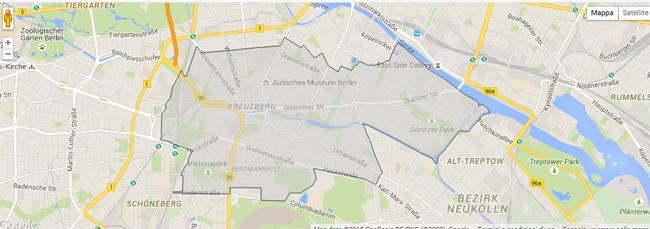 Kreuzberg berlin barrio hipster mapa