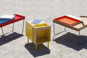 Mesas auxiliares para el salon de diseño, instinto parisino