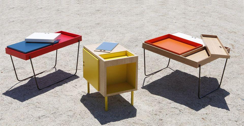 Mesas auxiliares para el salon de diseño 5