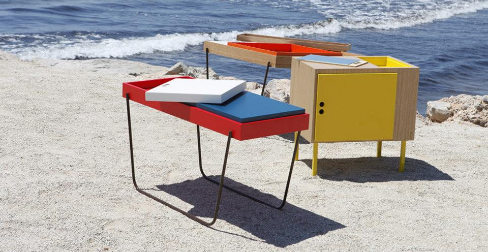 Mesas auxiliares para el salon de diseño