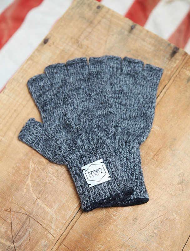 Upstate Stock guantes lana con y sin dedos-1