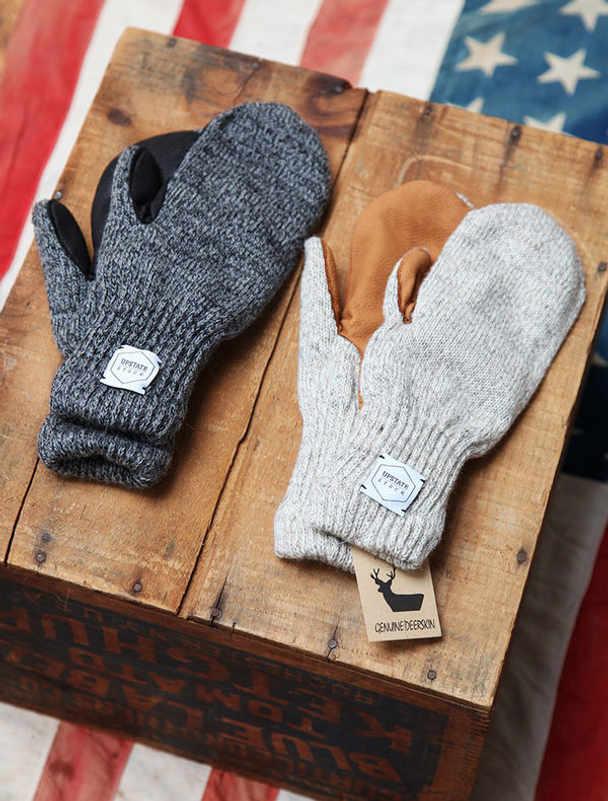 Upstate Stock guantes lana con y sin dedos-12
