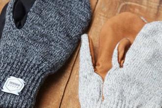 Upstate Stock guantes lana con y sin dedos