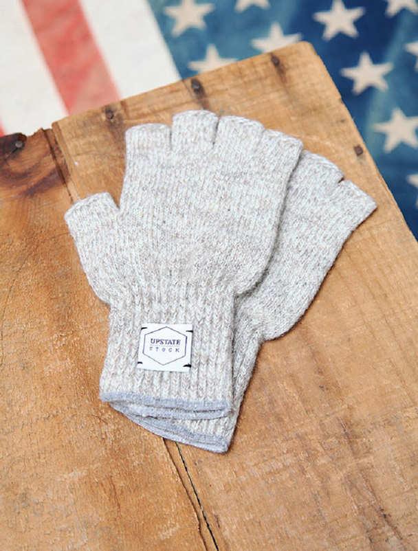Upstate Stock guantes lana con y sin dedos-6