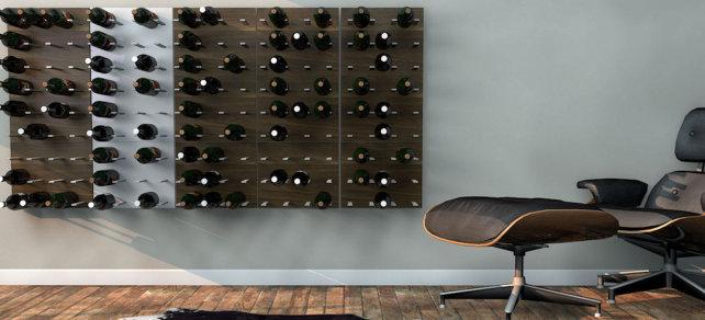 Botellero de madera para pared diy gracias a pfeiffer lab en cultura hipster - Botelleros de madera para vino ...