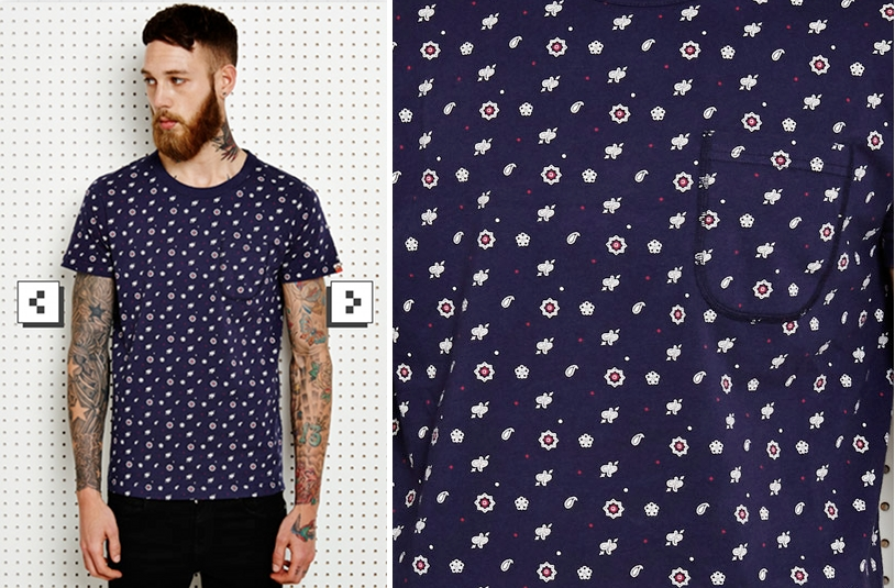 camiseta-urban-outfitters-azul-marino