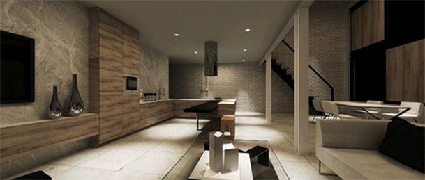 Decoraci n de interior minimalista en gdansk por jasinski for Decoracion de casas minimalistas pequenas