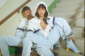 Estilo universitario y alta costura en la última colección de Rihanna para PUMA