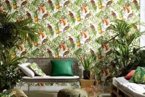 Decorar las paredes con papel pintado inspirado en la naturaleza