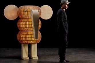 lámparas de madera artesanales en forma de elefante 3