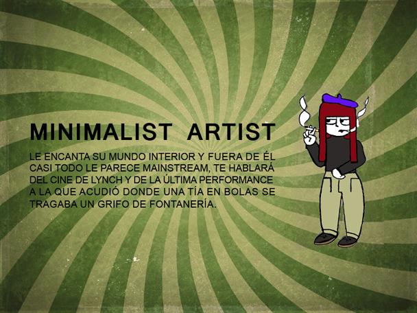 minimalist artist estereotipos hipster