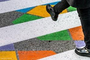 Los pasos de cebra en Madrid que decoró el artista bulgaro, Christo Guelov