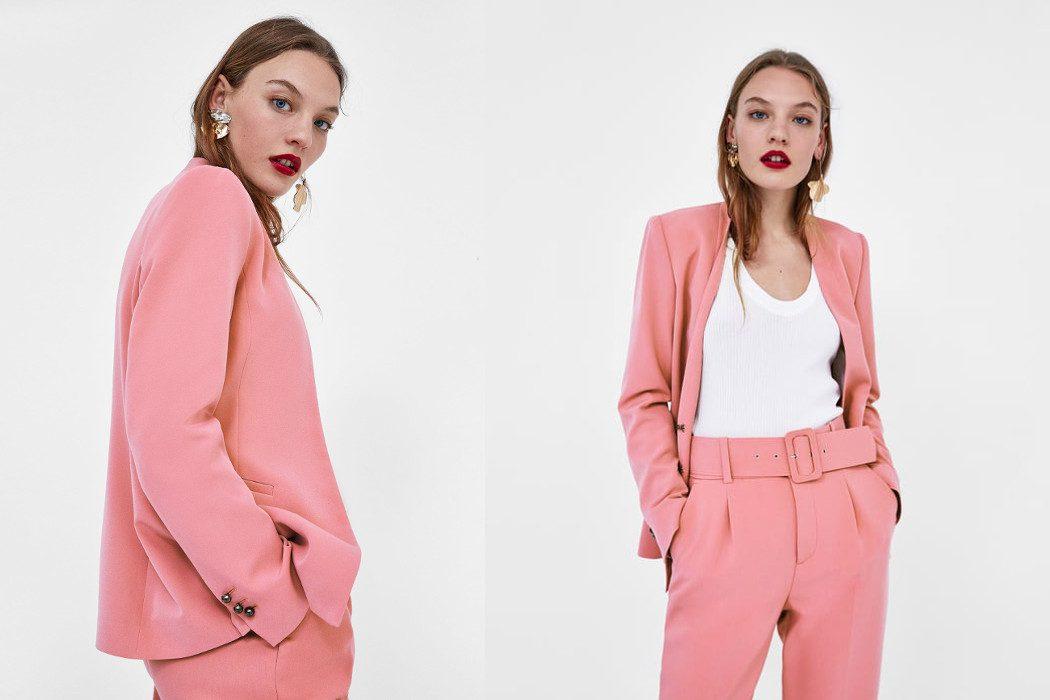 De Moda Primavera 2018 Traje En ZaraLa Ropa El Para Rosa exBrdoC